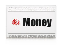 Business concept: newspaper with Money and Finance Royalty Free Stock Photos