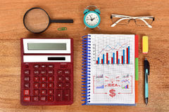 Business concept in notebook Royalty Free Stock Photos