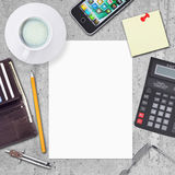 Business concept with office and business work Stock Image