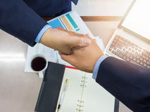 Business concept of office working, Young business men shaking hands Royalty Free Stock Images