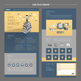 Business concept one page website template design Stock Photo