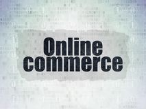Business concept: Online Commerce on Digital Data Paper background. Business concept: Painted black text Online Commerce on Digital Data Paper background with Royalty Free Stock Photos