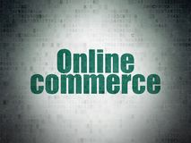 Business concept: Online Commerce on Digital Data Paper background. Business concept: Painted green word Online Commerce on Digital Data Paper background Stock Photo