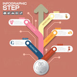 Business concept with 5 options, parts, steps or processes. Can be used for workflow layout, diagram, number options, web design Royalty Free Stock Photography