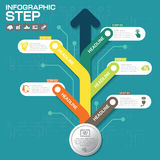 Business concept with 5 options, parts, steps or processes. Can be used for workflow layout, diagram, number options, web design stock illustration