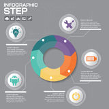 Business concept with 5 options, parts, steps or processes. Can. Be used for workflow layout, diagram, number options, web design stock illustration