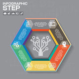 Business concept with 6 options, parts, steps or processes. Can. Be used for workflow layout, diagram, number options, web design Stock Photography