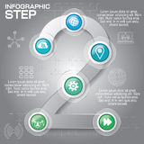 Business concept with 6 options, parts, steps or processes. Can. Be used for workflow layout, diagram, number options, web design Royalty Free Stock Photos