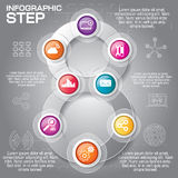 Business concept with 8 options, parts, steps or processes. Can. Be used for workflow layout, diagram, number options, web design royalty free illustration