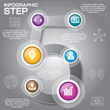 Business concept with 6 options, parts, steps or processes. Can. Be used for workflow layout, diagram, number options, web design Royalty Free Stock Image