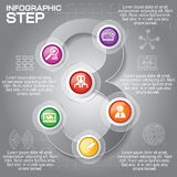 Business concept with 6 options, parts, steps or processes. Can. Be used for workflow layout, diagram, number options, web design Royalty Free Stock Photo
