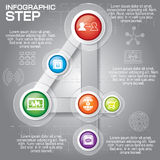 Business concept with 6 options, parts, steps or processes. Can. Be used for workflow layout, diagram, number options, web design royalty free illustration