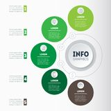 Business concept with 5 options, parts, steps or processes. Time. Line infographics. The development and growth of the ecology business. Time line of farming Royalty Free Stock Images