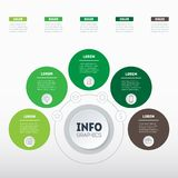 Business concept with 5 options, parts, steps or processes. Time. Line infographics. The development and growth of the eco business. Time line of farming trends Royalty Free Stock Photography