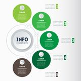 Business concept with 5 options, parts, steps or processes. Time. Line infographics. The development and growth of the ecology business. Timeline of farming Stock Image