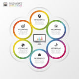 Business concept with 6 options, parts, steps or processes. Vector Royalty Free Stock Image