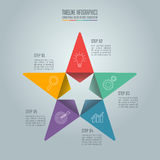 Business concept with 5 options, steps or processes. Creative concept for infographic. Timeline infographic design vector star shape and marketing icons for Royalty Free Stock Images