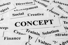 Business Concept And Other Related Words Royalty Free Stock Photos