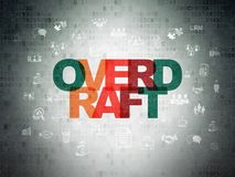 Business concept: Overdraft on Digital Data Paper background. Business concept: Painted multicolor text Overdraft on Digital Data Paper background with  Hand Royalty Free Stock Images