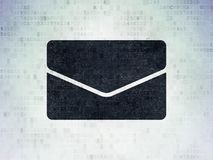 Business concept: Email on Digital Data Paper background. Business concept: Painted black Email icon on Digital Data Paper background Royalty Free Stock Photos