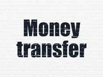 Business concept: Money Transfer on wall background. Business concept: Painted black text Money Transfer on White Brick wall background Royalty Free Stock Photos