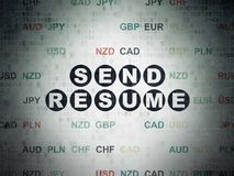 Business concept: Send Resume on Digital Data Paper background Royalty Free Stock Photos