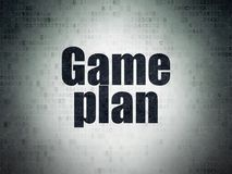 Business concept: Game Plan on Digital Data Paper background. Business concept: Painted black word Game Plan on Digital Data Paper background Stock Images