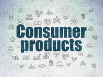 Business concept: Consumer Products on Digital Data Paper background. Business concept: Painted blue text Consumer Products on Digital Data Paper background with Royalty Free Stock Photography