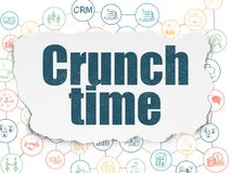 Business concept: Crunch Time on Torn Paper background Royalty Free Stock Images