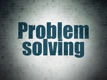Business concept: Problem Solving on Digital Data Paper background. Business concept: Painted blue word Problem Solving on Digital Data Paper background Stock Images