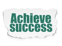 Business concept: Achieve Success on Torn Paper background Royalty Free Stock Photography