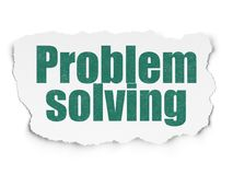 Business concept: Problem Solving on Torn Paper background. Business concept: Painted green text Problem Solving on Torn Paper background with Scheme Of Hand Stock Photo