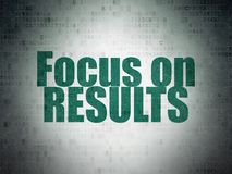 Business concept: Focus on RESULTS on Digital Data Paper background Royalty Free Stock Image