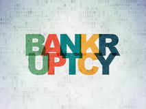 Business concept: Bankruptcy on Digital Data Paper background. Business concept: Painted multicolor text Bankruptcy on Digital Data Paper background Stock Photo