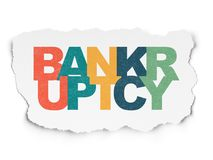 Business concept: Bankruptcy on Torn Paper background. Business concept: Painted multicolor text Bankruptcy on Torn Paper background Royalty Free Stock Images