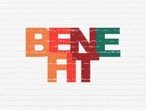 Business concept: Benefit on wall background Stock Photography