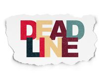 Business concept: Deadline on Torn Paper background. Business concept: Painted multicolor text Deadline on Torn Paper background Royalty Free Stock Photo