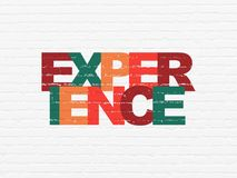 Business concept: Experience on wall background. Business concept: Painted multicolor text Experience on White Brick wall background Royalty Free Stock Photography