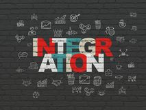 Business concept: Integration on wall background Stock Image