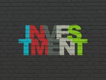 Business concept: Investment on wall background Stock Photos