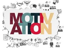 Business concept: Motivation on Torn Paper background. Business concept: Painted multicolor text Motivation on Torn Paper background with  Hand Drawn Business Royalty Free Stock Photo