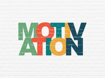 Business concept: Motivation on wall background. Business concept: Painted multicolor text Motivation on White Brick wall background Royalty Free Stock Photos