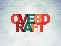 Business concept: Overdraft on Digital Data Paper background. Business concept: Painted multicolor text Overdraft on Digital Data Paper background Royalty Free Stock Image