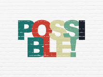 Business concept: Possible! on wall background Stock Photo