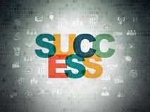 Business concept: Success on Digital Data Paper background Royalty Free Stock Photos