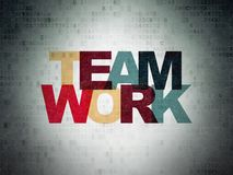 Business concept: Teamwork on Digital Data Paper background stock images