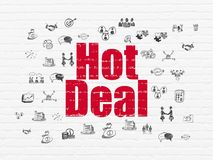 Business concept: Hot Deal on wall background Stock Image