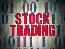 Business concept: Stock Trading on Digital Data Paper background Stock Photography