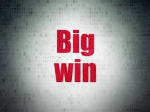 Business concept: Big Win on Digital Data Paper background. Business concept: Painted red word Big Win on Digital Data Paper background Royalty Free Stock Photography