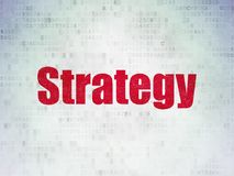 Business concept: Strategy on Digital Data Paper background. Business concept: Painted red word Strategy on Digital Data Paper background Stock Images